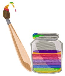 Rainbow Paint embroidery design