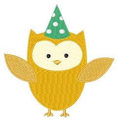 Party Owl embroidery design