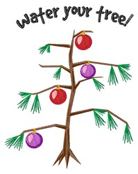 Water Your Tree embroidery design
