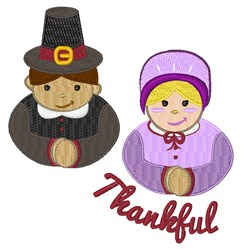 Thankful Pilgrims embroidery design