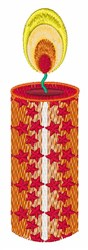 Holiday Candle embroidery design