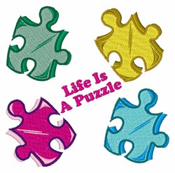 Life Is A Puzzle embroidery design