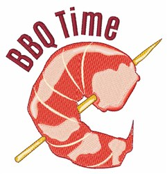 BBQ Time embroidery design