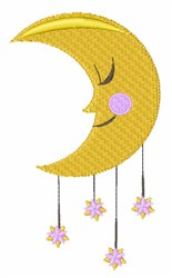 Sleepy Moon embroidery design