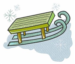 Snow Sled embroidery design
