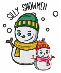 Silly Snowmen embroidery design