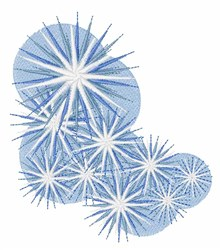 Snowfall Starburst embroidery design