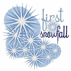 First Snowfall embroidery design