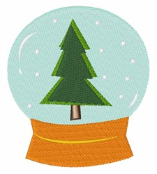 Xmas Snow Globe embroidery design