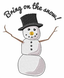 Bring On Snow embroidery design