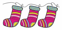 Xmas Stockings embroidery design