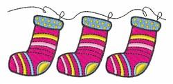 Xmas Stockings embroidery design