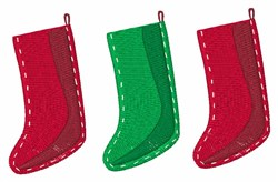 Three Stockings embroidery design