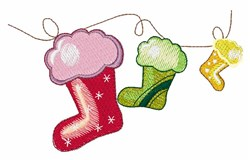 Fluffy Stockings embroidery design