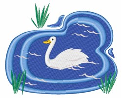 Swan Pond embroidery design