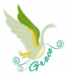 Grace Swan embroidery design