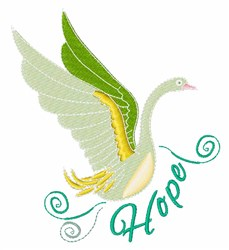Hope Swan embroidery design