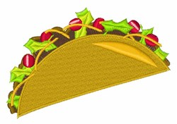 Taco Dinner embroidery design