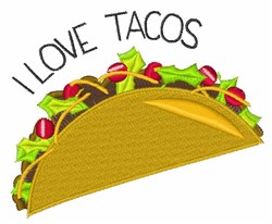 Love Tacos embroidery design