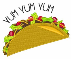 Yum Yum embroidery design
