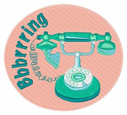 Telephone Ring embroidery design