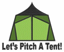 Pitch A Tent embroidery design