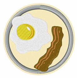 Breakfast embroidery design