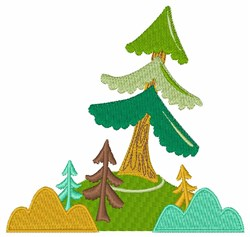 Tall Trees embroidery design
