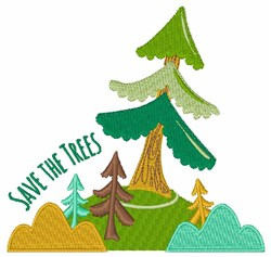 Save Trees embroidery design