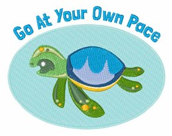 Your Own Pace embroidery design