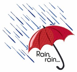 Rain Umbrella embroidery design