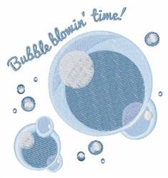 Bubble Blowin embroidery design