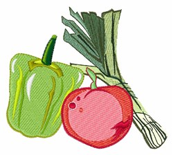 Vegetables embroidery design