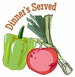 Dinners Served embroidery design