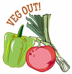 Veg Out embroidery design