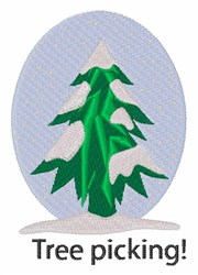 Tree Picking embroidery design