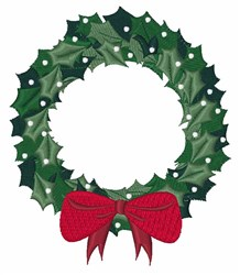 Xma Wreath embroidery design