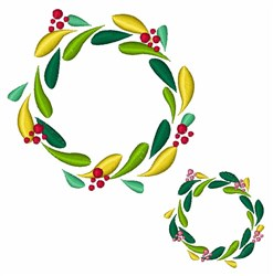 Christmas Wreaths embroidery design