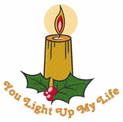Light My Life embroidery design