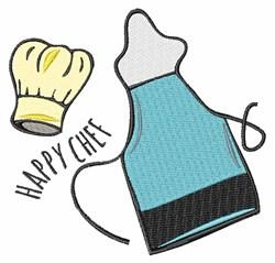 Happy Chef embroidery design