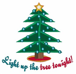 Light The Tree embroidery design