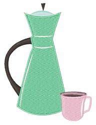 Coffee Pot embroidery design