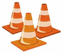 Traffic Cones embroidery design