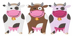 Three Cows embroidery design