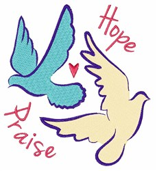 Hope Doves embroidery design