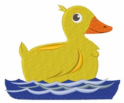 Yellow Duck embroidery design