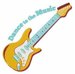 Dance Music embroidery design