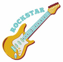 Rockstar embroidery design