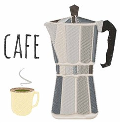 Cafe Pot embroidery design