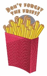 The Fries embroidery design